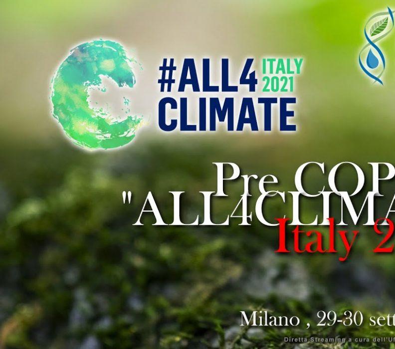 """Pre COP26 """"ALL4CLIMATE"""""""